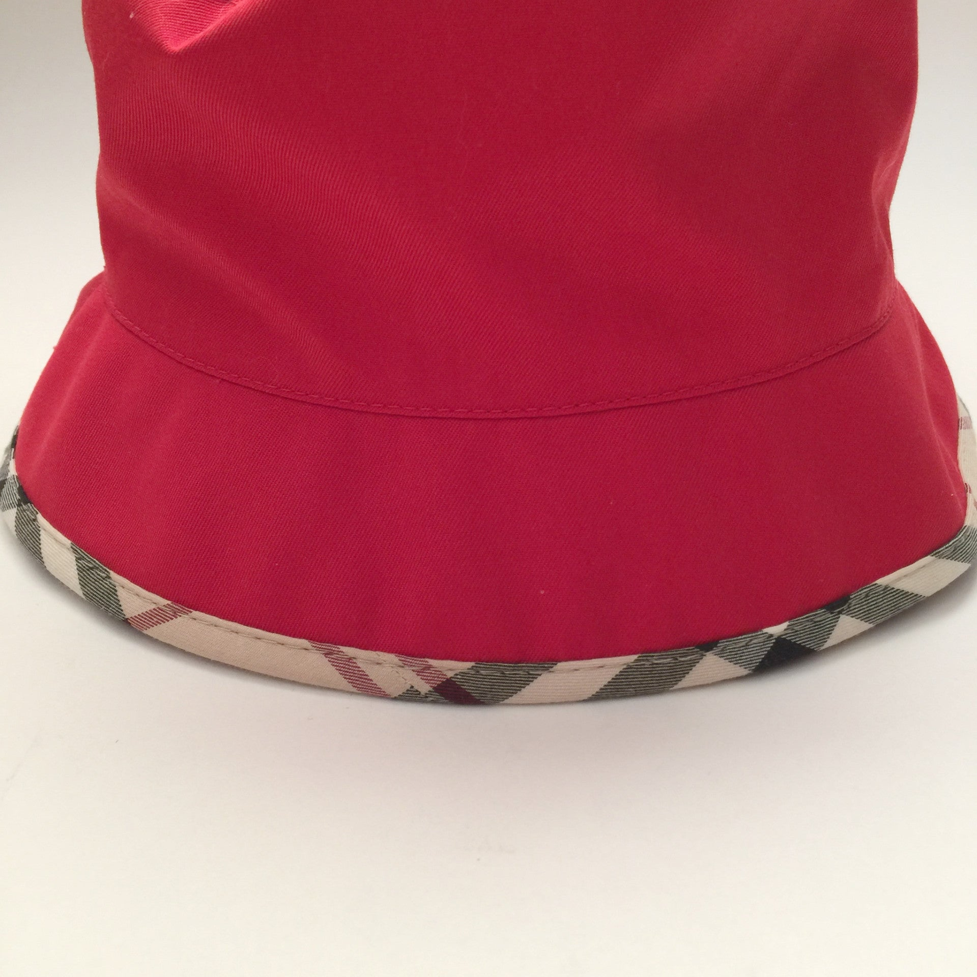 Authentic BURBERRY Red Bucket Hat