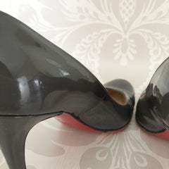 Authentic CHRISTIAN LOUBOUTIN Grey Patent Pumps