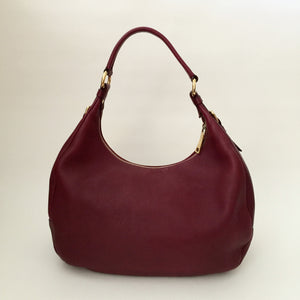 Authentic PRADA Burgundy Leather Hobo