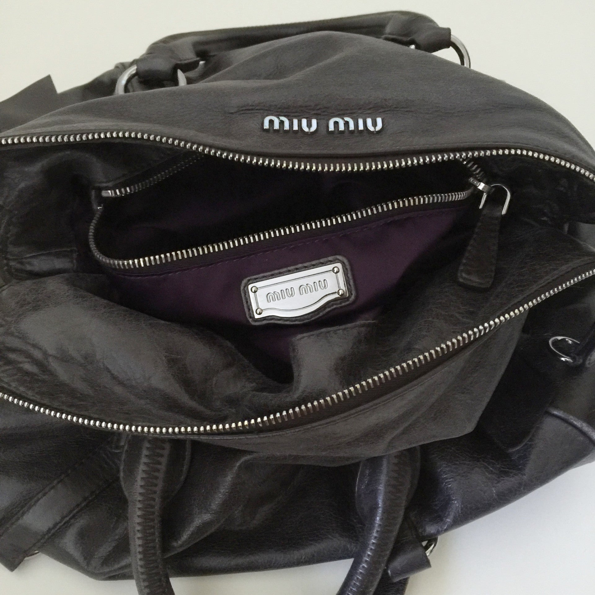 Authentic MIU MIU Vitello Lux Satchel