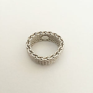 Authentic TIFFANY & CO Somerset Mesh Ring
