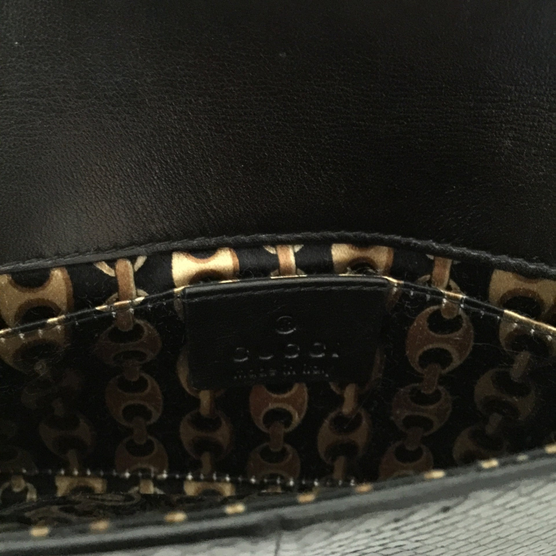 Authentic GUCCI Python Black Clutch