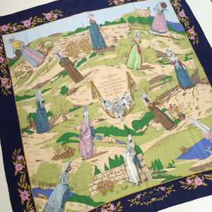Authentic HERMES Custome de Department Silk Scarf