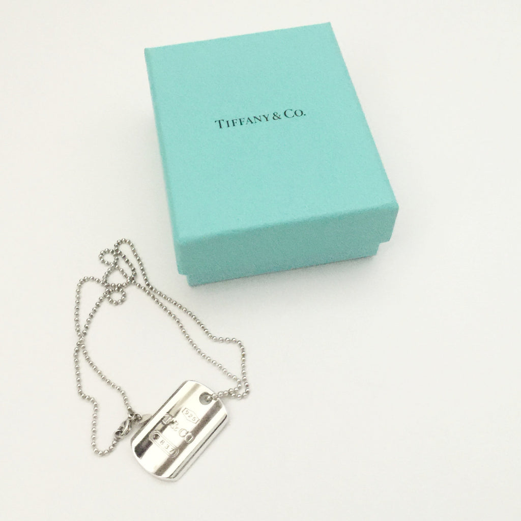 9eab3295aa02 Authentic TIFFANY & CO Dog Tag Necklace ...