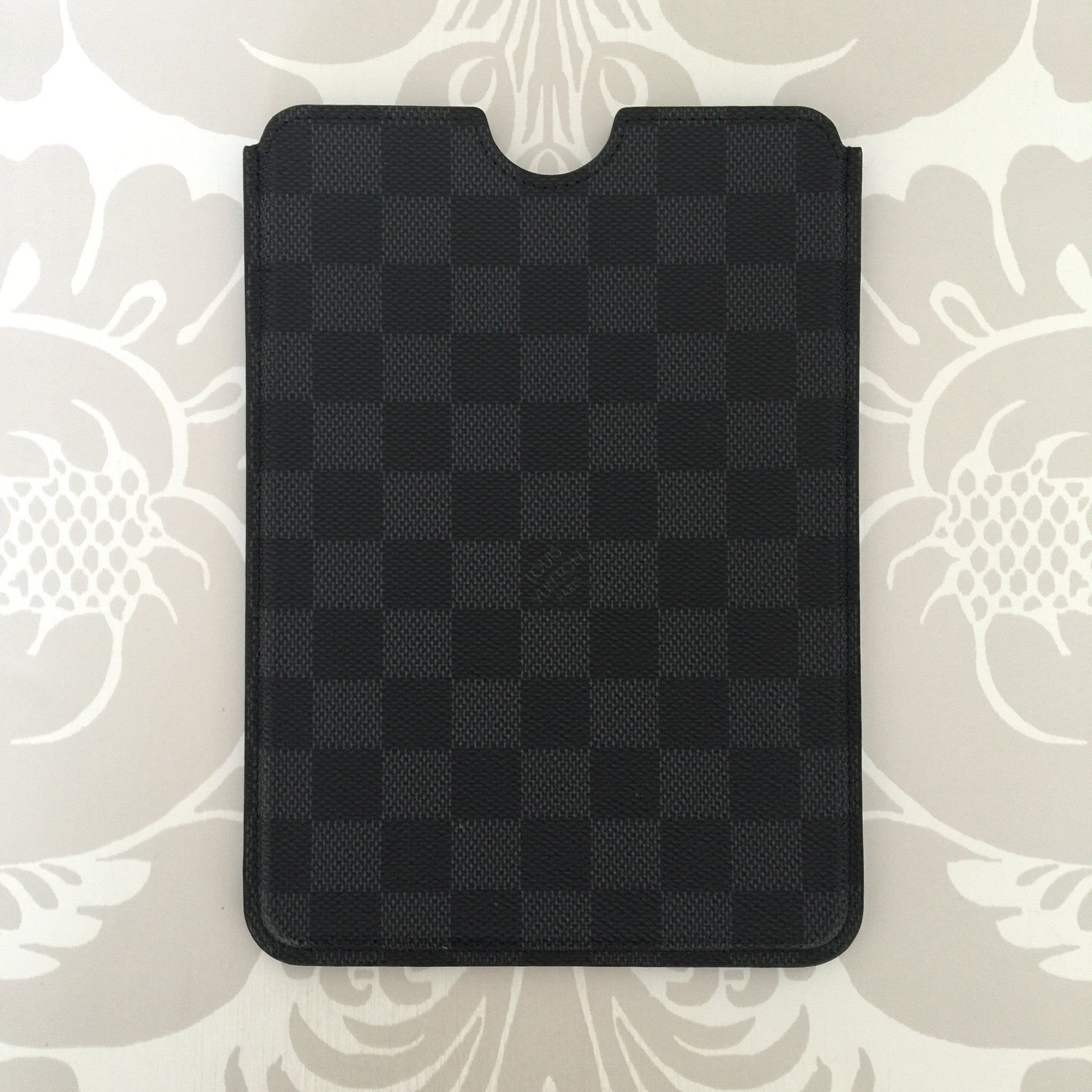Authentic LOUIS VUITTON Graphite IPad Mini Case