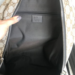 Authentic GUCCI Monogram Backpack Dark Brown