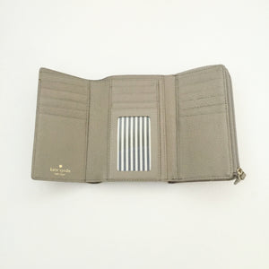 Authentic KATE SPADE Compact Grey/Taupe Wallet