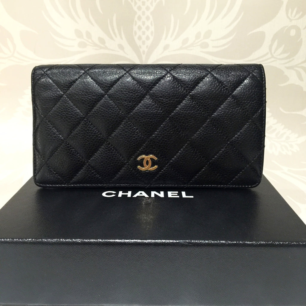 fd50734c2f71 Authentic CHANEL L-yen Wallet
