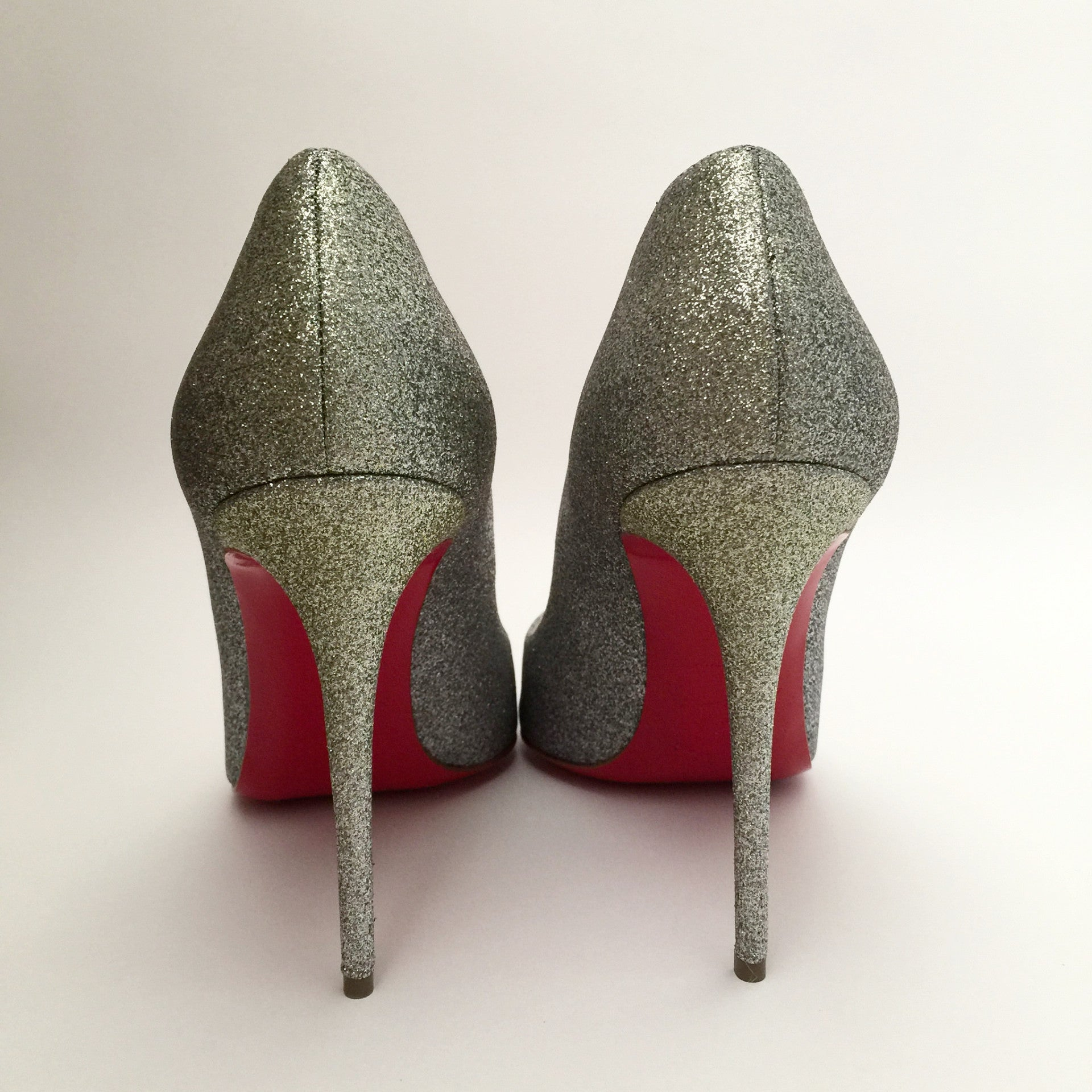 Authentic Christian Louboutin Glitter Pigalle Follies 39.5