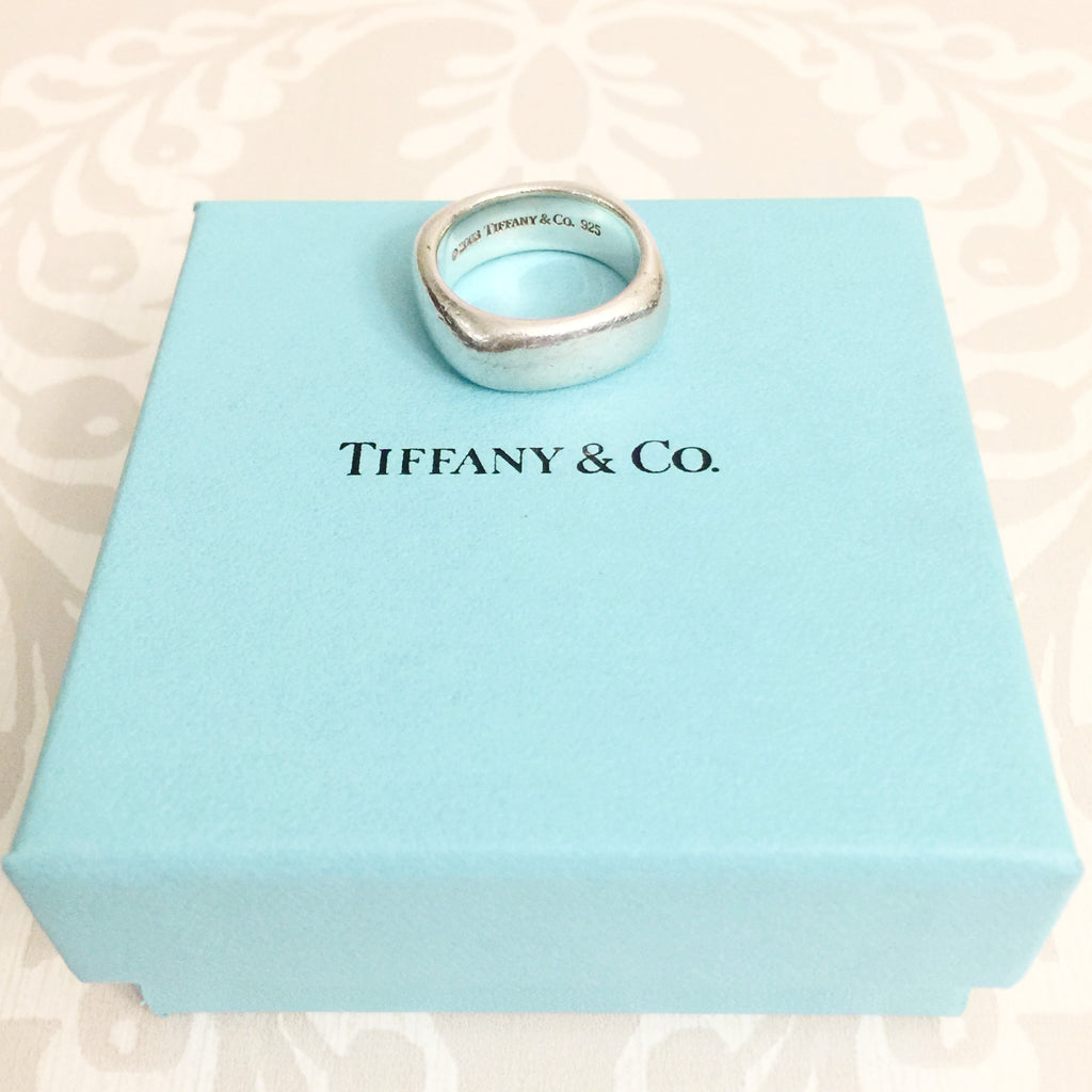 Authentic TIFFANY & CO. Square Cushion Ring