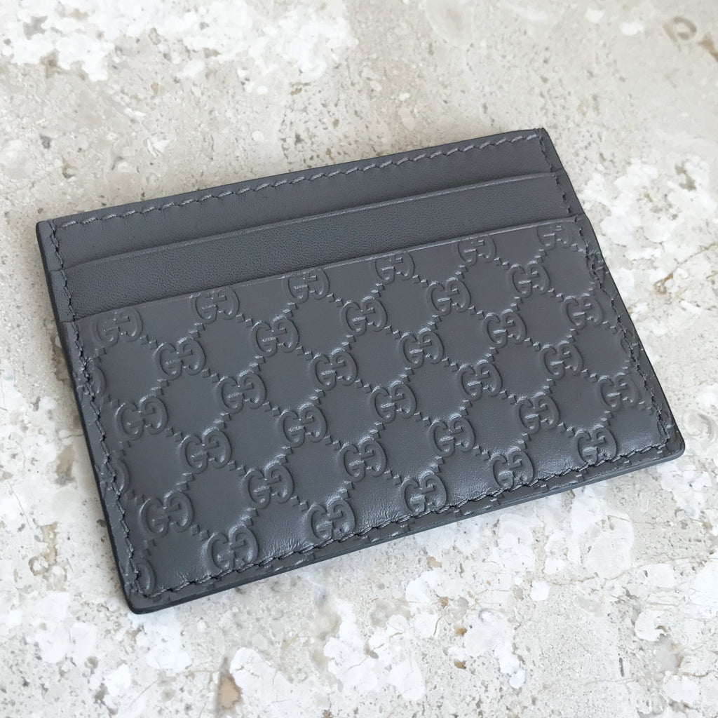Authentic GUCCI Guccissima Leather Cardholder