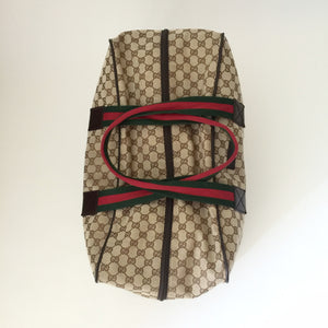 Authentic GUCCI Brown Canvas Duffle Bag