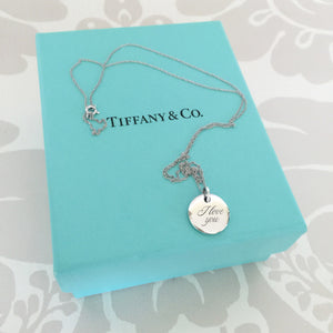 Authentic TIFFANY & CO I Love You Necklace
