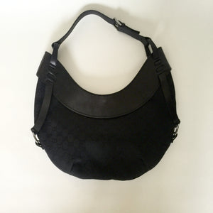 Authentic GUCCI Black Canvas Hobo