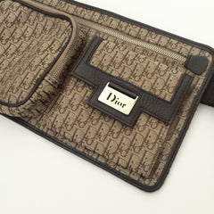 Authentic CHRISTIAN DIOR Brown Canvas Beltbag
