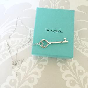 Authentic TIFFANY & CO Heart Key Necklace
