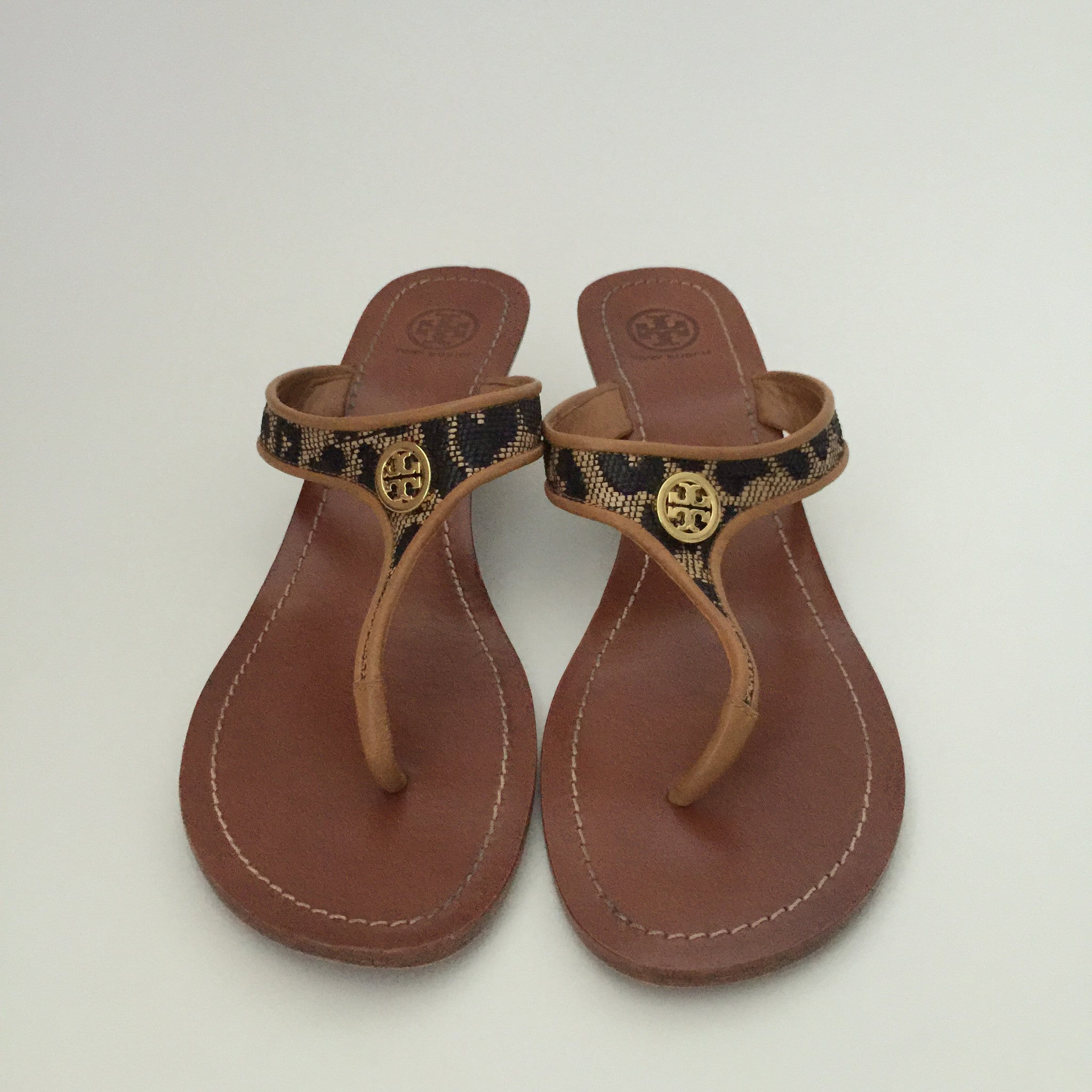 Authentic TORY BURCH Wedge Thongs Size 41