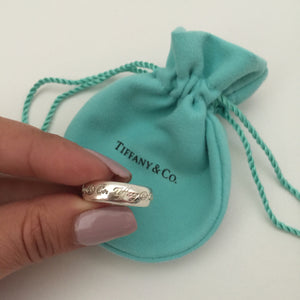 Authentic TIFFANY & CO Notes Ring Size 6