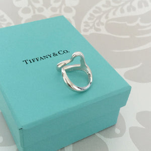 Authentic TIFFANY & CO Elsa Peretti Open Heart Ring