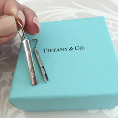 Authentic TIFFANY & CO 1837 Bar Earrings