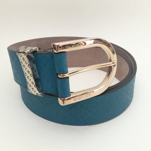 Authentic GUCCI Bright Diamonte Blue Belt