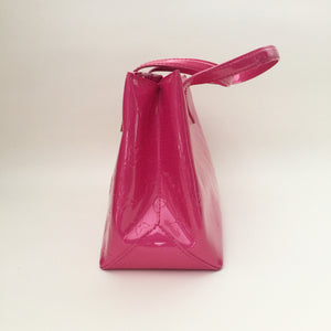 Authentic LOUIS VUITTON Vernis Wilshire PM Pop Rose