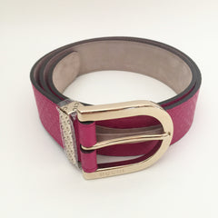 Authentic GUCCI Bright Diamonte Pink Belt