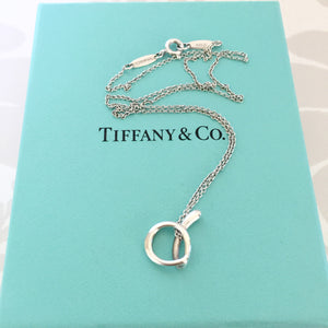 Authentic TIFFANY & CO Alphabet letter A Necklace