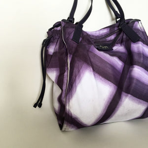 Authentic BURBERRY Purple Check Tote Bag