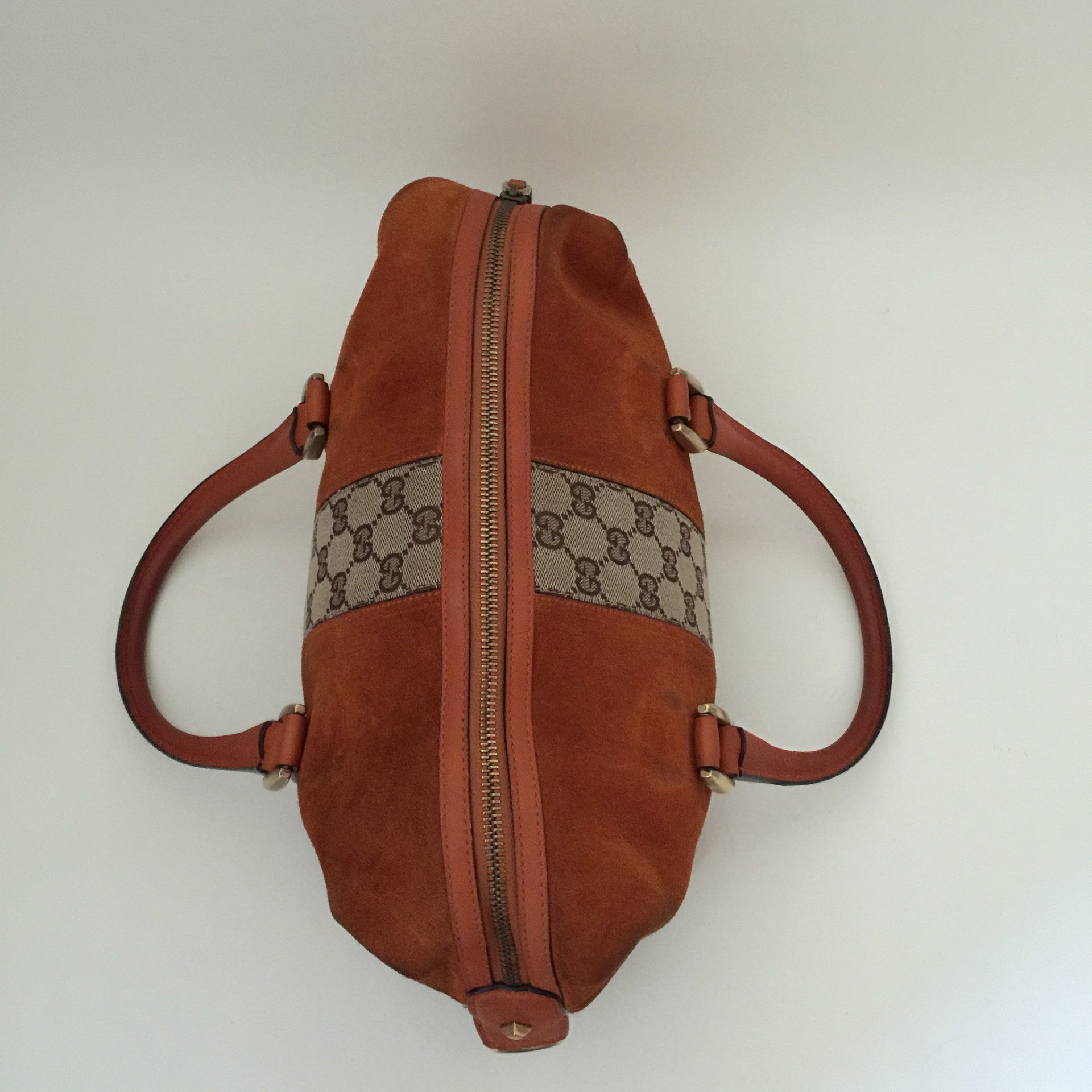 Authentic GUCCI Orange Suede Handbag