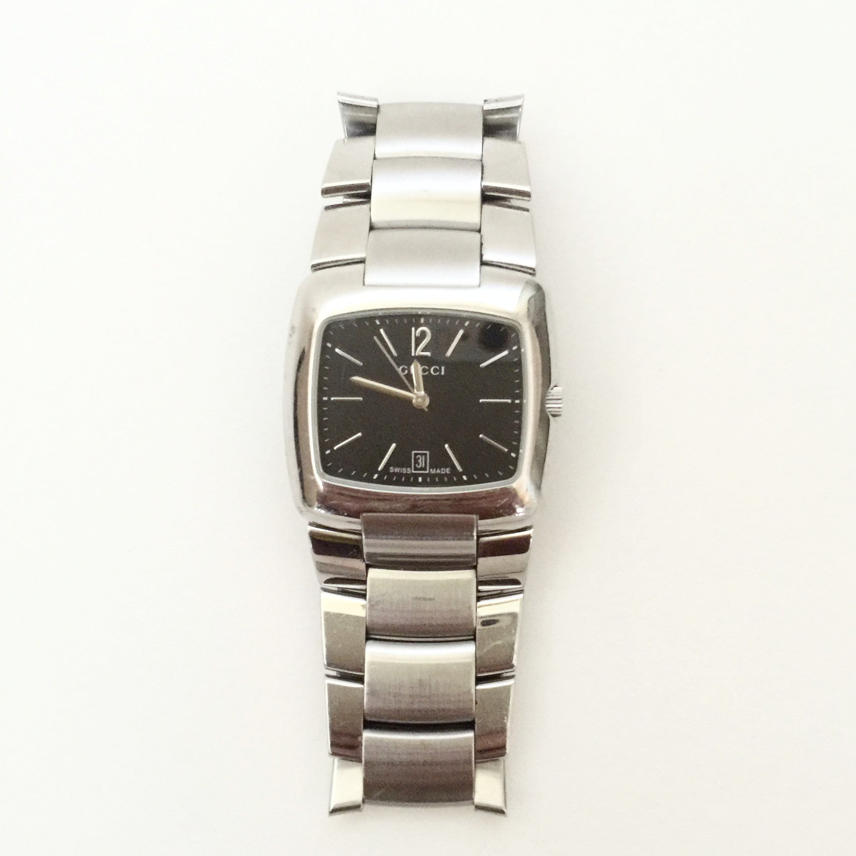 Authentic GUCCI Mens Silver Watch