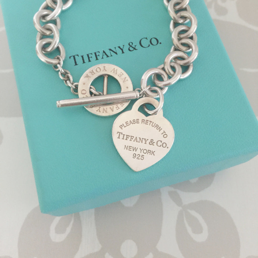 Authentic TIFFANY & CO 1837 Heart Toggle Bracelet