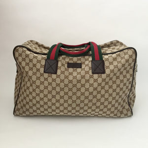 aa4414ae1 Authentic GUCCI Brown Canvas Duffle Bag – Valamode
