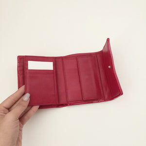 Authentic FURLA Red Patent Compact Wallet