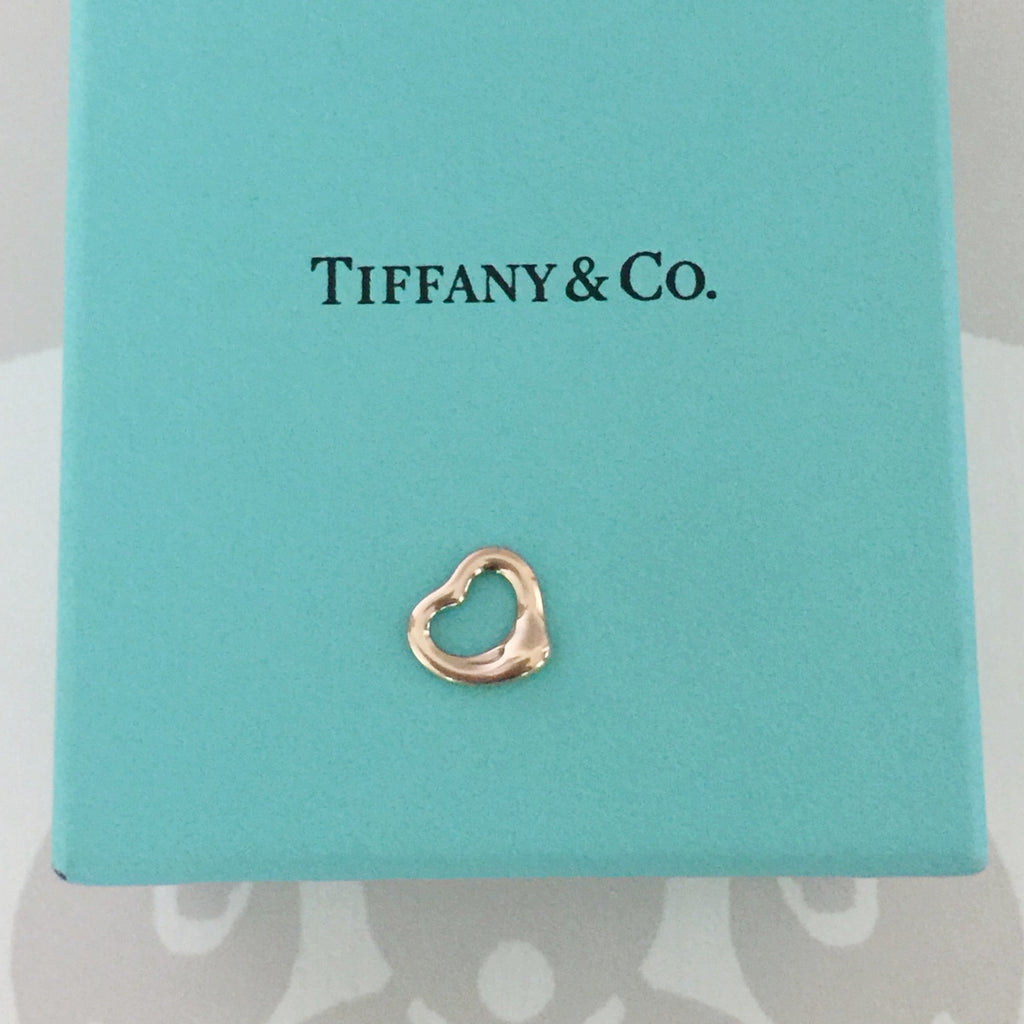 Authentic TIFFANY & CO Rose Gold Elsa Peretti Open Heart