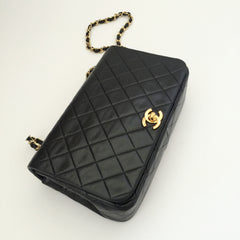 Authentic CHANEL Vintage Black Full Flap Bag