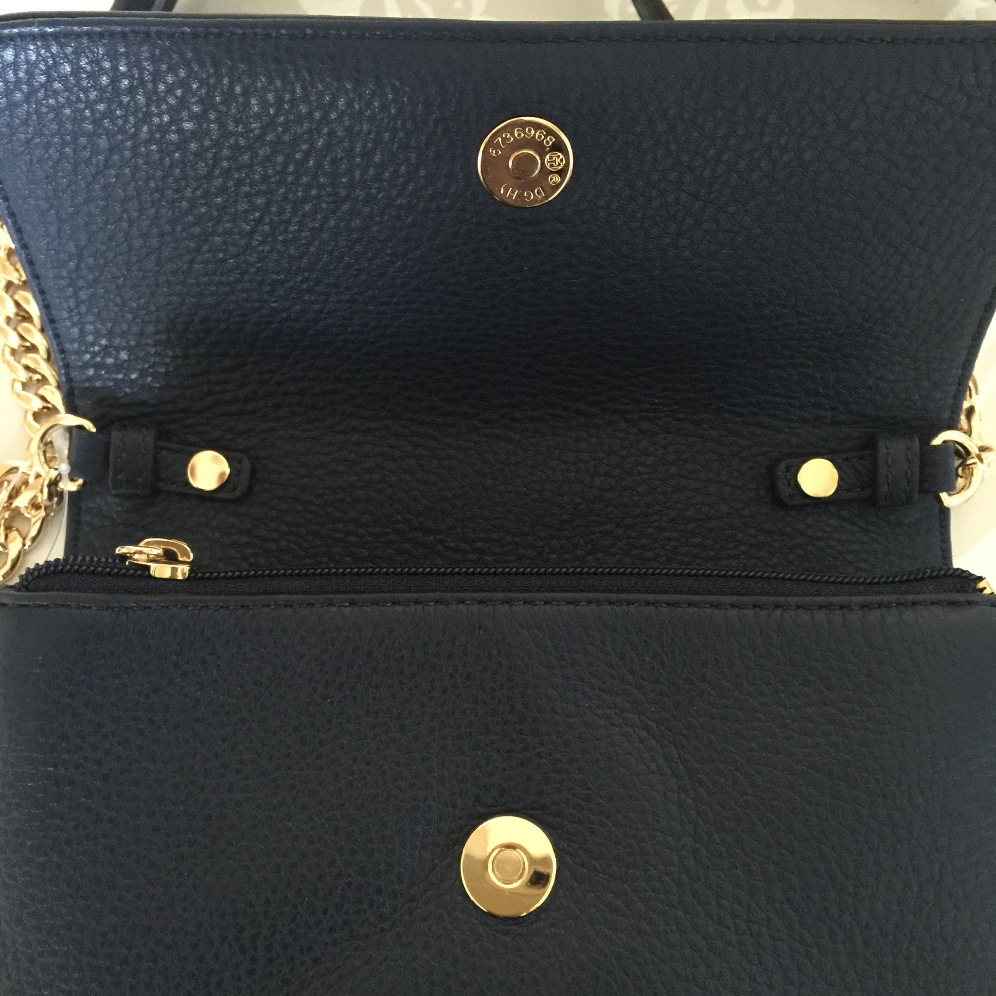 "Authentic MICHAEL KORS Navy ""Bedford"" Wallet On Chain Cross Body"