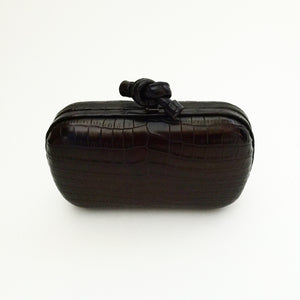 Authentic BOTTEGA VENETA Crocodile Knot Clutch