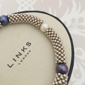 Authentic LINKS OF LONDON Effervescence Star Pearl Bracelet