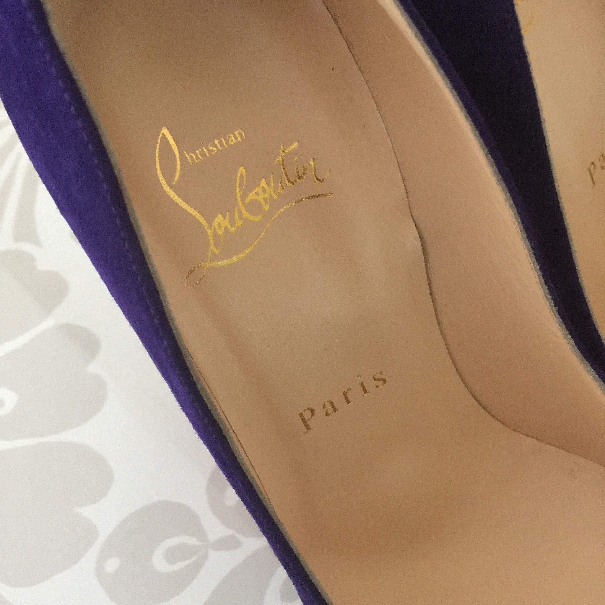 Authentic CHRISTIAN LOUBOUTIN Neofilo Purple Suede Pumps