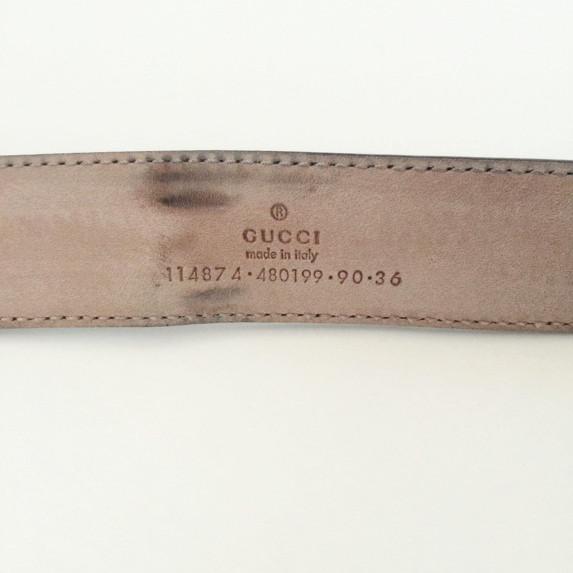 Authentic GUCCI Crystal Belt Size 90/36