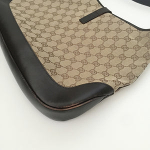 Authentic GUCCI Vintage Jacki O Brown Canvas Bag