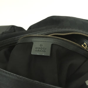 Authentic GUCCI Black Canvas Medium Jockey Bag
