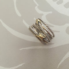Authentic DAVID YURMAN Double X Crossover Ring Size 8