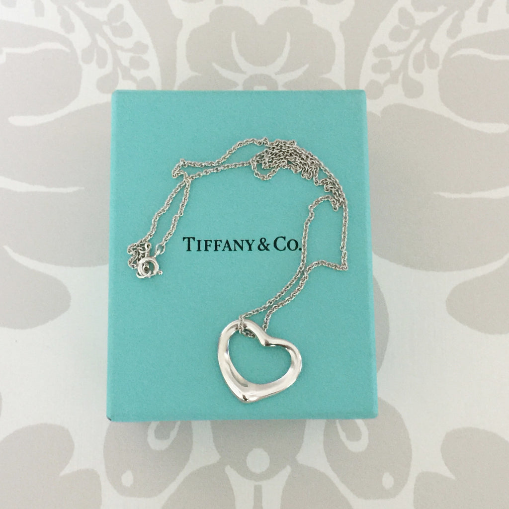 Authentic TIFFANY & CO Elsa Peretti Open Heart Necklace