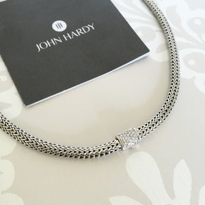 Authentic John Hardy Classic Chain Diamond Necklace