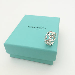 Authentic TIFFANY & CO Goldoni Heart Band Ring Size 6