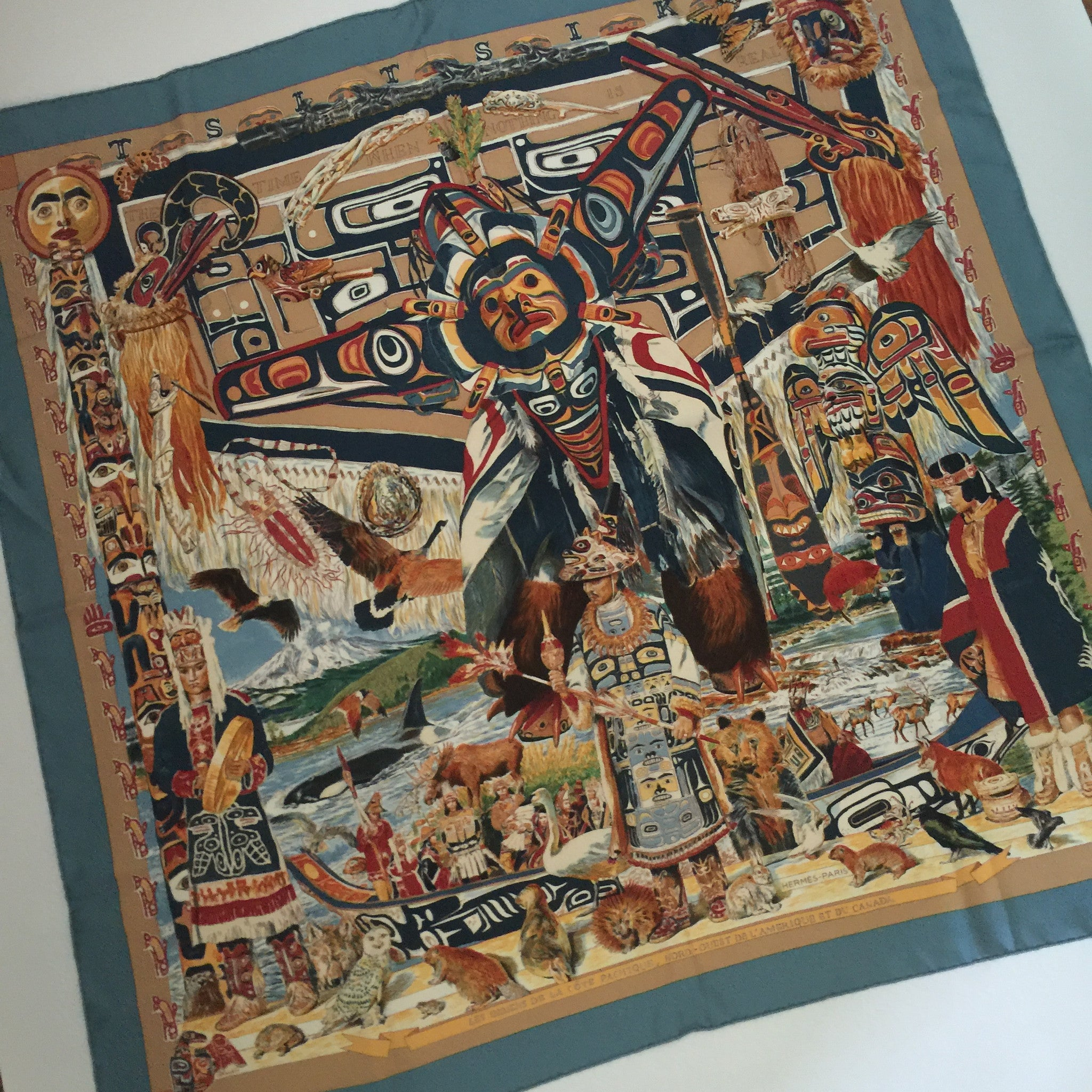 Authentic Hermes Tsitsika Silk Scarf