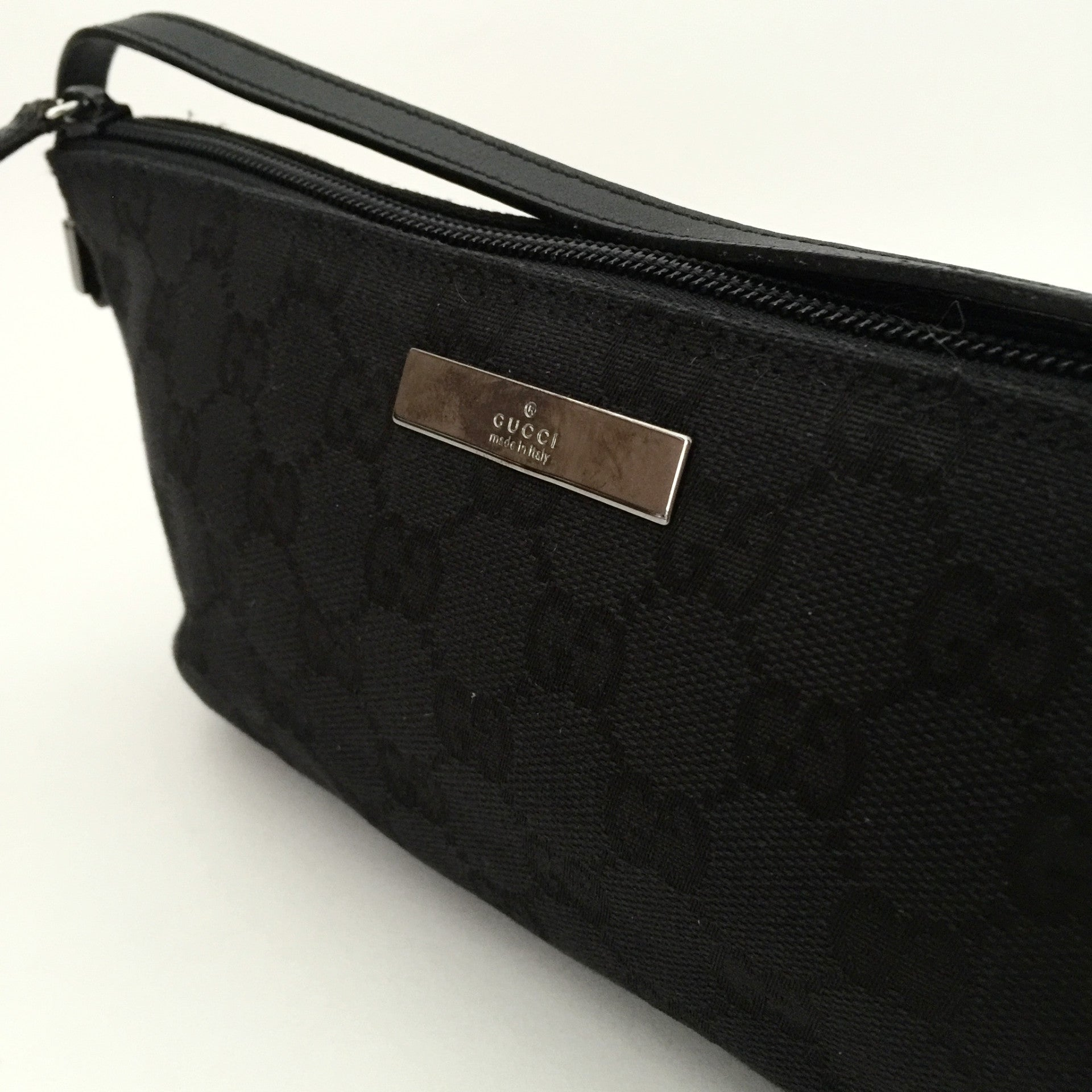 Authentic GUCCI Black Canvas Pochette