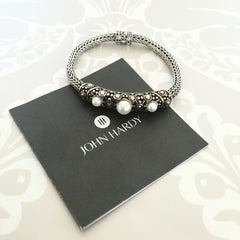 Authentic JOHN HARDY Gold & Pearl Bracelet